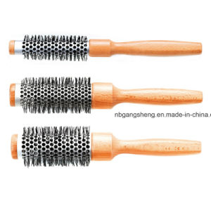 Round Thermal Wooden Brush for Salon pictures & photos