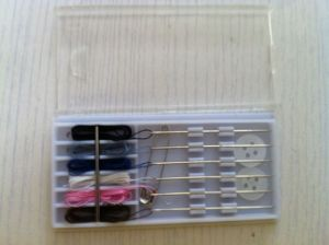 Sewing Kit in PVC Case