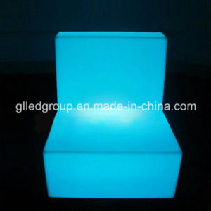 Plastic Outdoor Furniture LED Seating Sofa