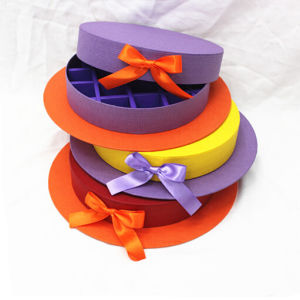 Round Paper Storage Box for Candy pictures & photos