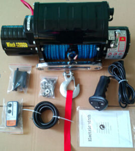 12000lb Winch 12V with Metal Control Box Synthetic Rope pictures & photos