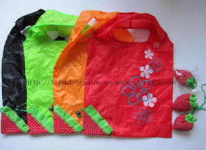 Cheap Cute Strawberry Folding Shopping Bag pictures & photos
