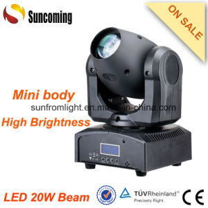 IR Controller 20W Beam LED Mini Small Moving Head Lights pictures & photos