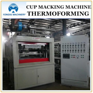 Plastic Cup Making Machine Thermoforming Machine Forming Machine (Servo Motor YXSF750*350) pictures & photos