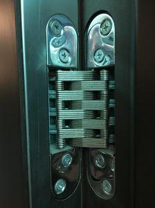 Solid Steel Wooden Armored Door Big Handle Door Sound Insulation pictures & photos