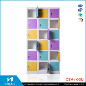 Luoyang Mingxiu Low Price High Quality 18 Door Used Steel Lockers Cabinets / Metal Lockers pictures & photos