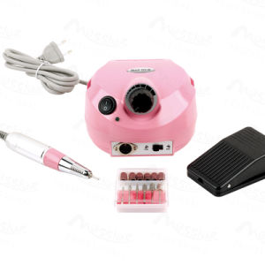 Professional Nail Art Manicure and Pedicure Machine 25000 Rpm Speeds Pink Color Nail Polisher pictures & photos