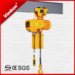 Vanbon 500kg Electric Chain Hoist with Manual Pulley pictures & photos