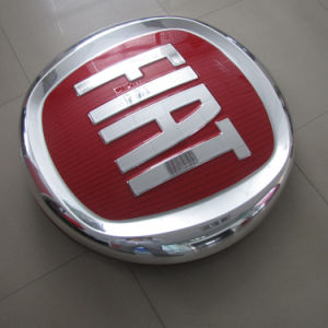 Professional Vacuum Forming Silk Screen LED Car Sign and Name for FIAT pictures & photos