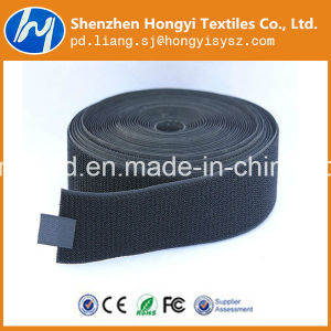 Nylon Black Non-Brushed Loop Velcro Fastener Tape pictures & photos