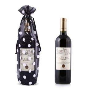 Customized Organza Drawstring Wine Bottle Gift Bag pictures & photos