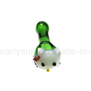 Glass Heavy Fumed Spoon for Smoke with Linework Design (ES-HP-005) pictures & photos