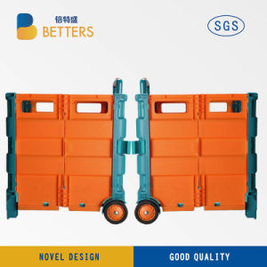 Colorful Shopping Trolley Folding Box Trolley Cart pictures & photos