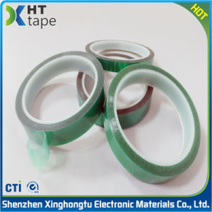 0.06 Thick Polyester Silicone Adhesive Tape Pet Green Tape pictures & photos