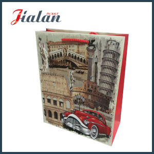 210g White Card Custom Printed Logo Paper Wedding Shopping Bag pictures & photos