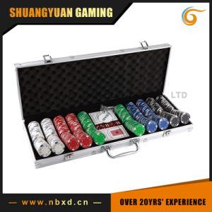 500PCS Poker Chip Set in Square Corner Real Aluminum Case pictures & photos