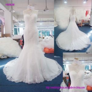 Wholesale Backless Trumpetand Wedding Dress with Lace Edge of The Dress pictures & photos