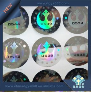 Geen Color Anti-Counterfeiting Hologram Label pictures & photos