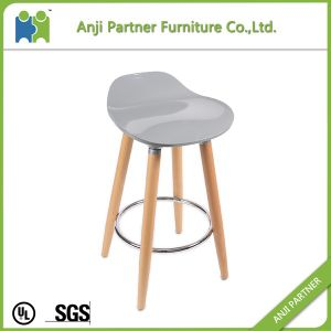 Modern Industrial Plastic High Bar Stools with Wooden Legs (FIREL) pictures & photos
