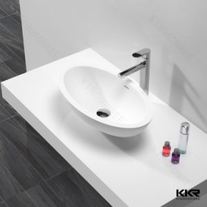 Sanitaryware Modern Solid Surface Resin Stone Bathroom Sink (170815) pictures & photos