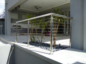 Inox Balcony Railing with Stainless Steel Balustrade Cable Railing pictures & photos
