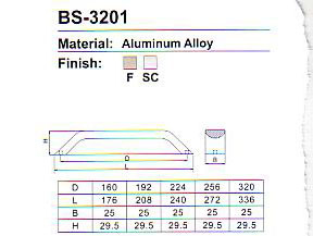 BS-3201 Aluminium Alloy Cabinet Handle pictures & photos