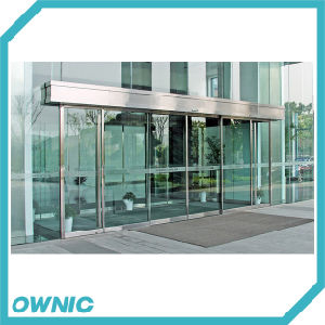 Automatic Glass Sliding Door of Ss304 Frame of Complete Set for Banks, Oil Station, Commercial Buildings pictures & photos