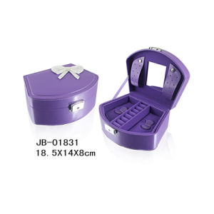 Hot Sale Purple Cardboard Paper Jewelry Box pictures & photos