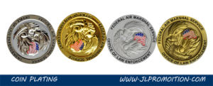 High Quality 3D Metal Coin with Printing Insert Background pictures & photos
