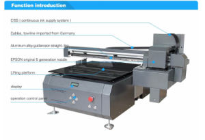 Factory Price Byc168-6A 60cm 8 Channel UV Inkjet Flatbed Printer for Leather Printing pictures & photos