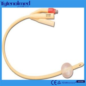 Disposable 3-Way Sterilized Latex Balloon Foley Catheter pictures & photos