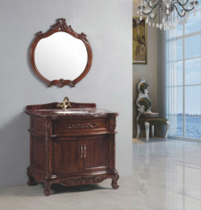 Antique Hand-Carved Vanity with Marble Countertop pictures & photos