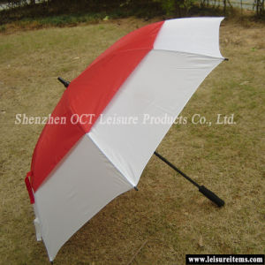 Strong Double Layer Golf Umbrella (OCT-G11DFPR) pictures & photos