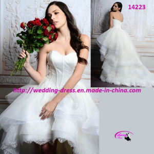 2015 New High-Low Wedding Bridal Dress with High Quality pictures & photos