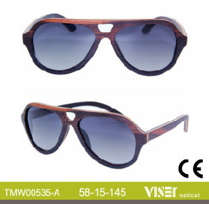 Fashion Wooden Sunglasees with High Quality (535-A) pictures & photos