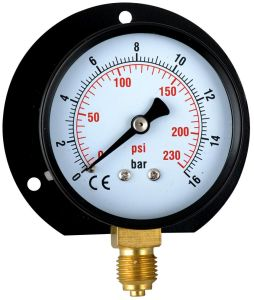 "Back Flange Bottom Type for 2.5"" Pressure Gauge pictures & photos"