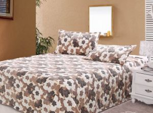 2015 Hot Selling Printed Fleece Bed Sheet with Pillowase