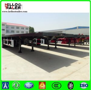 China 13m Tri Axle Flatbed Semi Trailer / 48 FT Container Semi Trailer pictures & photos