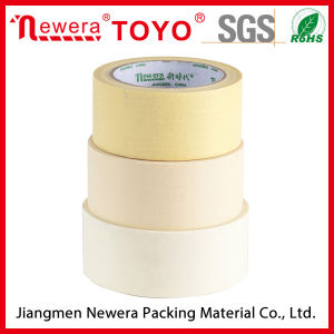 Good Quality Creped Paper Naturel Color Automotive Masking Tape pictures & photos