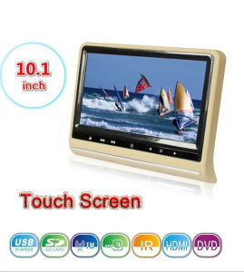 2014 New Product 10.1 Inch Touch Screen Car DVD Headrest with Digital TFT LCD Screen