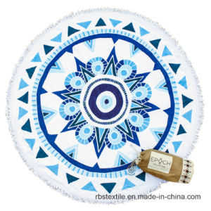 Round Printed Beach Towel with Top Quality pictures & photos