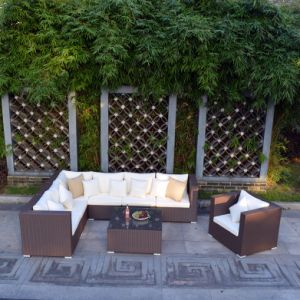 Circular Outdoor Sofa Garden Sofa Wicker Furniture Rattan Sofa (S243) pictures & photos