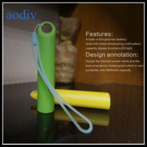 Mini Cylindrical Power Bank with Support The Lanyard to Carry