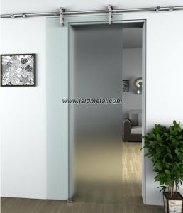 Wall Mounting Installation Frosted Glass Residential Sliding Door