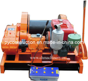 Diesel Engine Hoist for Pulling Cable with Hand Brake pictures & photos
