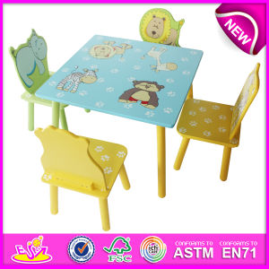2014 Cute Animal Wooden Table and Chair Toy for Kids, Cheap Table and Chair Set for Children, Table and Chair for Baby W08g088 pictures & photos
