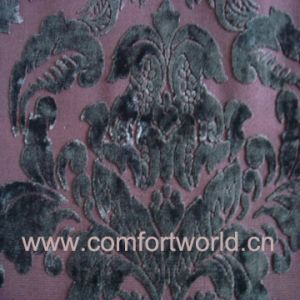 Cut Velvet Fabric for Sofa pictures & photos