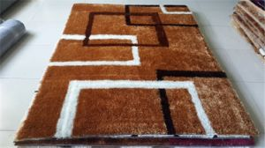 Handmade 1200d Korea Silk Polyester Shaggy Carpet Tianjin
