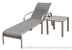Outdoor Patio Furniture Set Adjustable Aluminum Chaise Lounge Chair with Textilene Serene Ridge pictures & photos