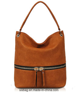 New Fashion PU Hobo Bag Zipper Swagger Bag pictures & photos